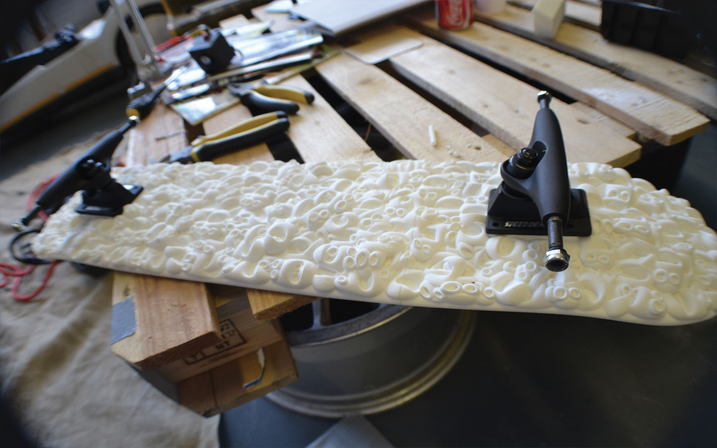 Printed Skateboards Skateboard-3d-printed