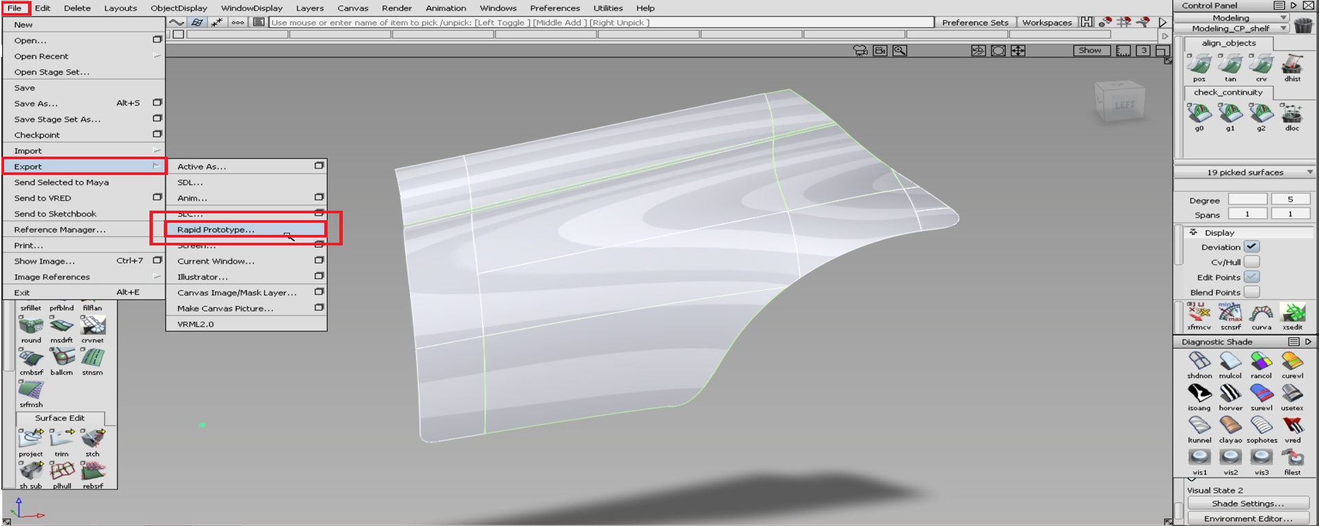 D Printing Exhibition Uk : Autodesk alias converting to stl open surfaces dprintuk