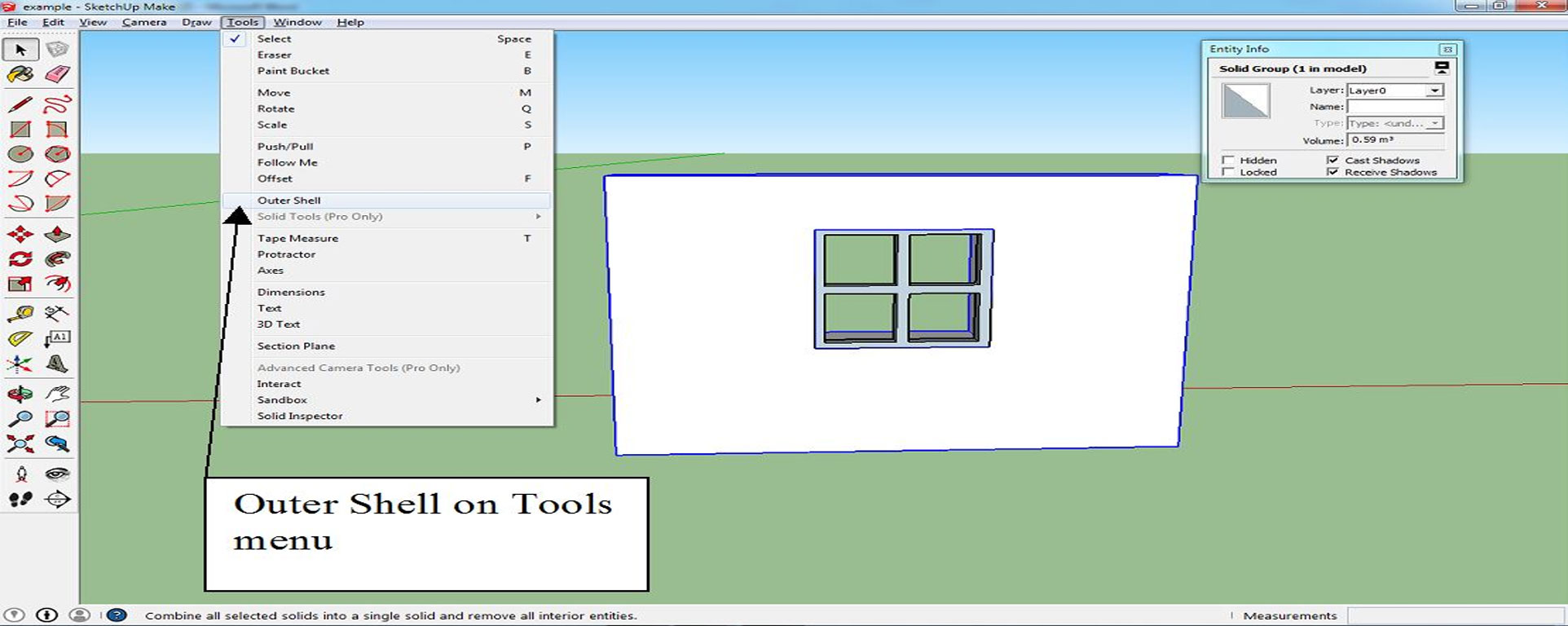 Making Structures Solid'- A Sketchup Tutorial by Paul