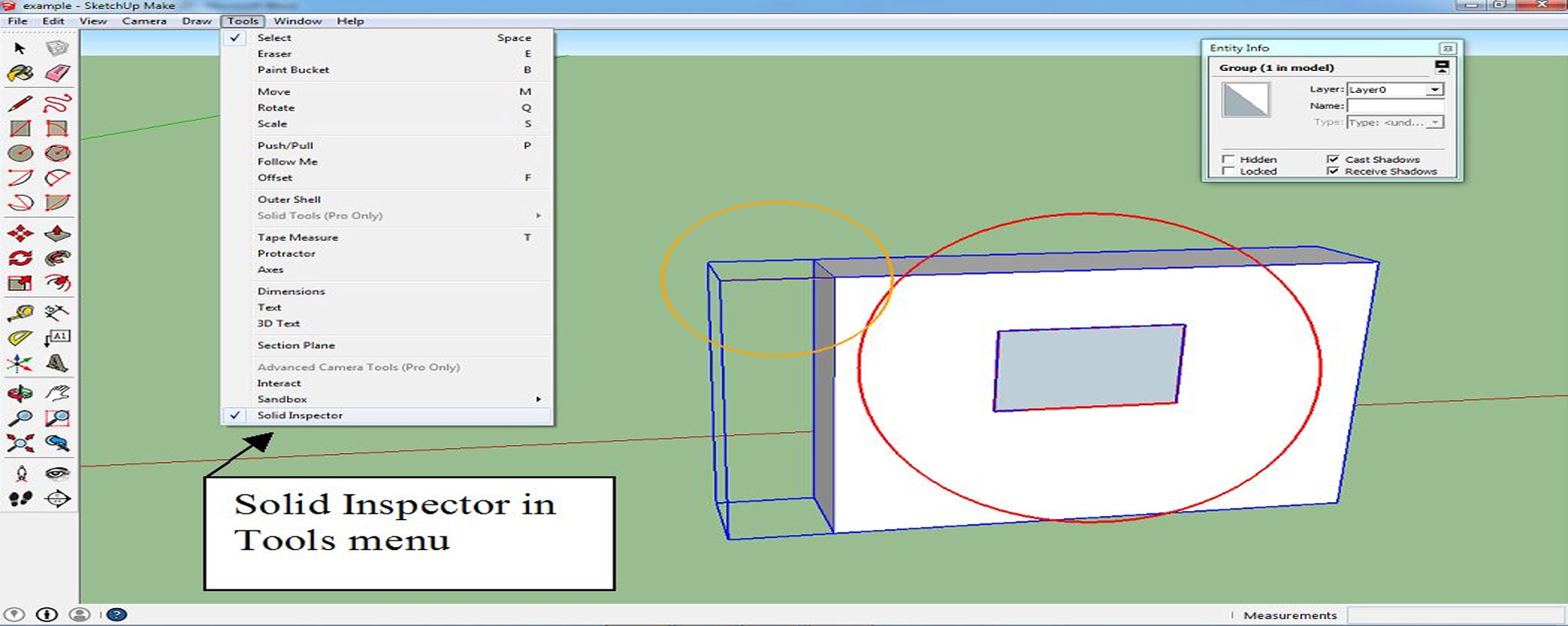 How to set savng time sketchup