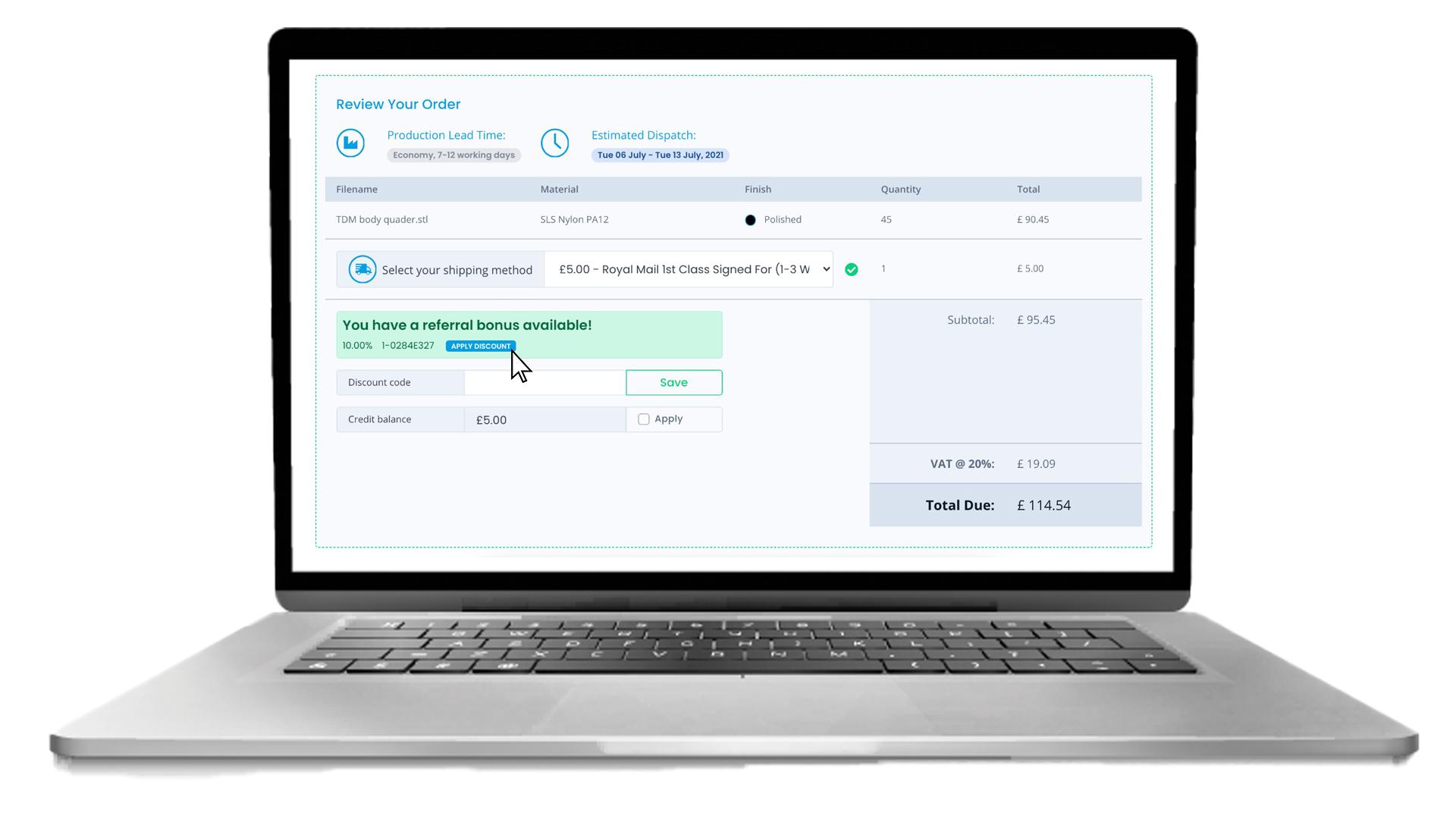 software development enables referral scheme